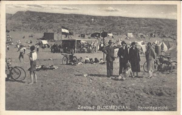 Zeeweg, Bloemendaal aan Zee, 1930
