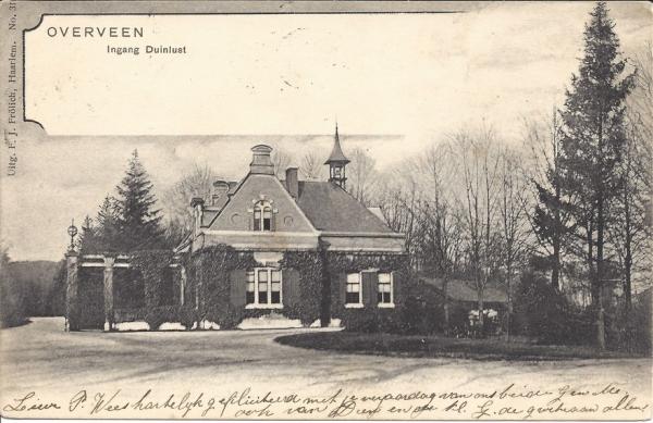 Duinlustweg, Landgoed Duinlust, 1905