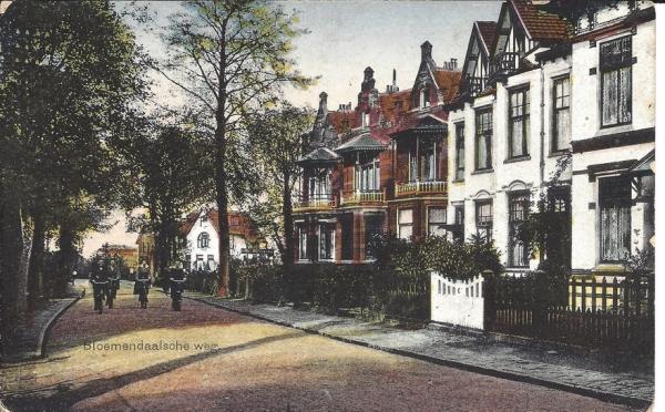 Bloemendaalscheweg, zicht op Cearalaan, 1921