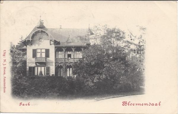 Parkweg, Villa Duin-Ouwe, 1902