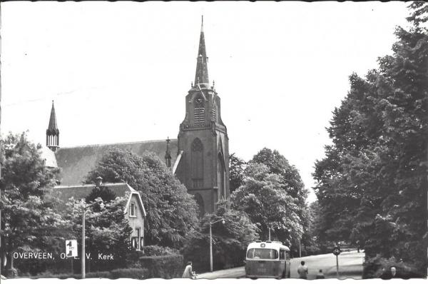Korte Zijlweg, O.L.V. Kerk, 1956