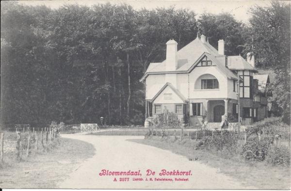 Midden Duin en Daalscheweg, Huize de Boekhorst, 1908