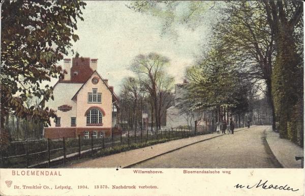 Bloemendaalscheweg, Willemshoeve, 1905