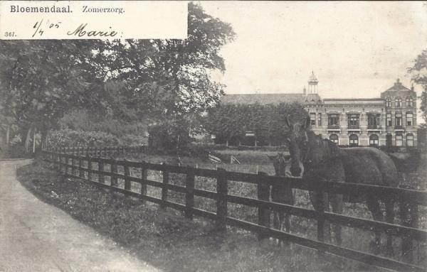 Brederodelaan, Hotel Zomerzorg, 1905
