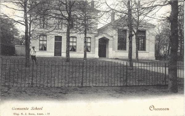 Bloemendaalscheweg, hoek Tetterodeweg, Gemeente School