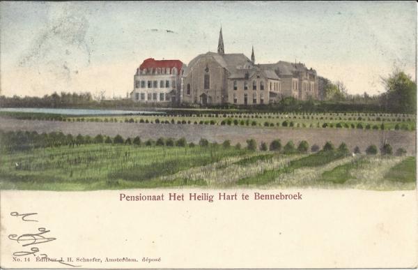 Schoollaan, Santa Lucia Klooster, Pensionnaat, Heilig Hart, 1902