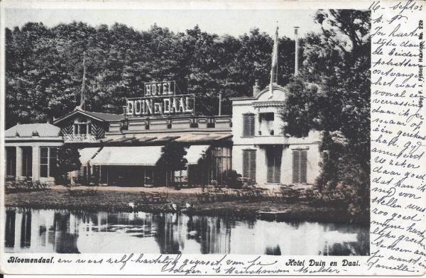 Koninginneduinweg, Hotel Duin en Daal, 1903 (3)