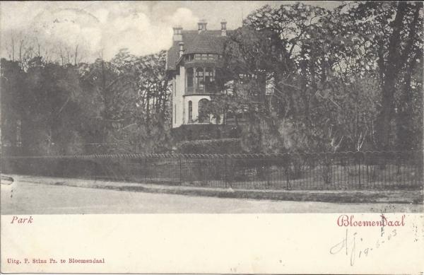 Parkweg, Villa Tangkal Rambei. 1903