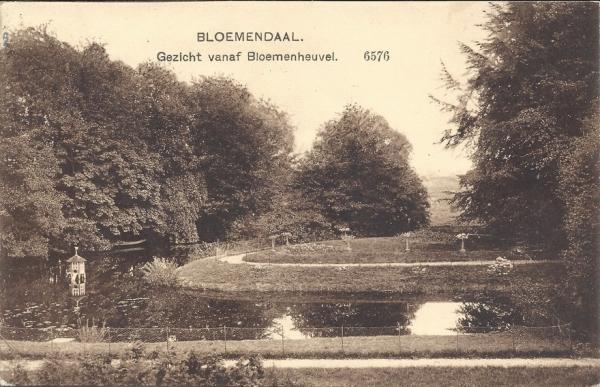 Bloemendaalscheweg, Bloemenheuvel, Uitzicht, 1913
