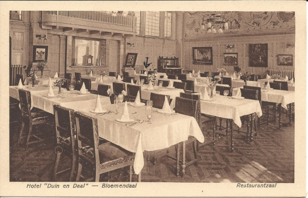 Koninginneduinweg, Hotel Duin en Daal, Restaurant