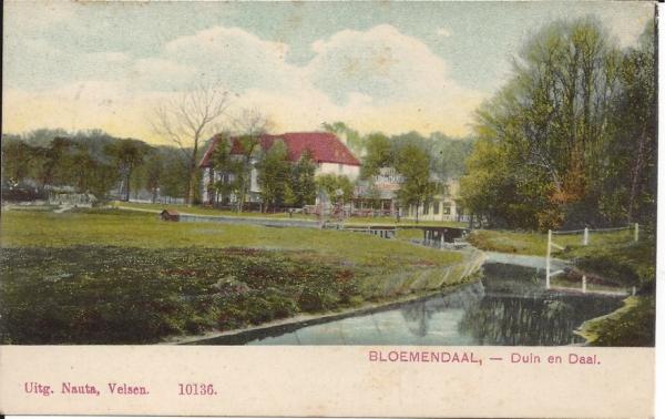 Lage Duin en Daalscheweg, Hotel Duin en Daal, 1910