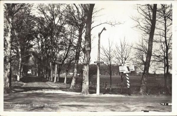 Vogelenzangscheweg, Hoek Kleine Bekslaan, 1957