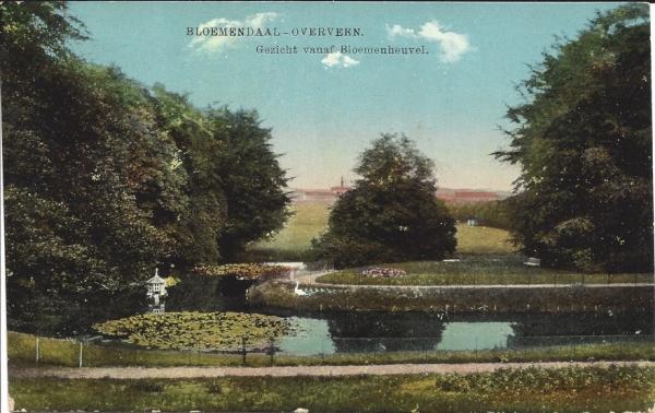 Bloemendaalscheweg, Bloemenheuvel, Uitzicht, 1917