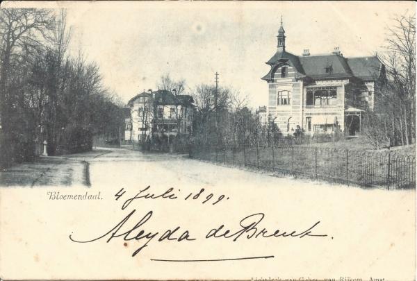Rijperweg, Villa de Berg, 1899
