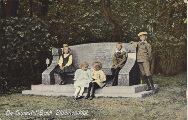 Lage Duin en Daalscheweg, Genestetbank, 1914