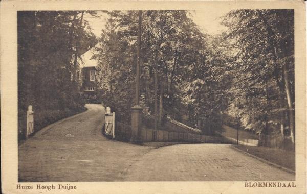 Midden Duin en Daalscheweg, Villa Hoogh Duijne, 1910