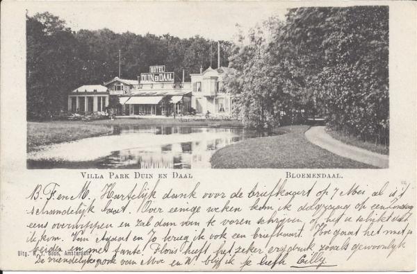 Koninginneduinweg, Hotel Duin en Daal, 1903 (2)