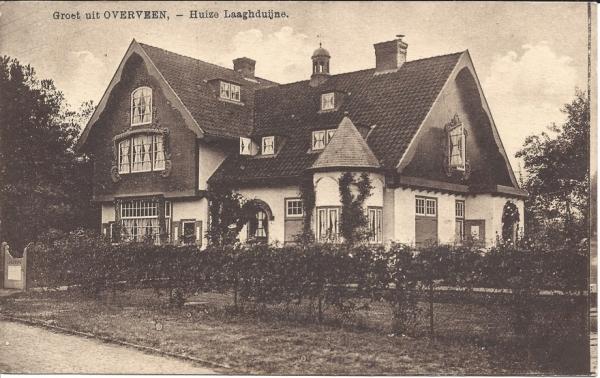 Kweekduinweg, hoek Militairenweg, Villa Laaghduijne, 1917