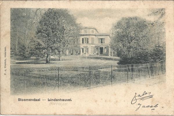 Bloemendaalscheweg, Overbeek, Lindenheuvel 1901