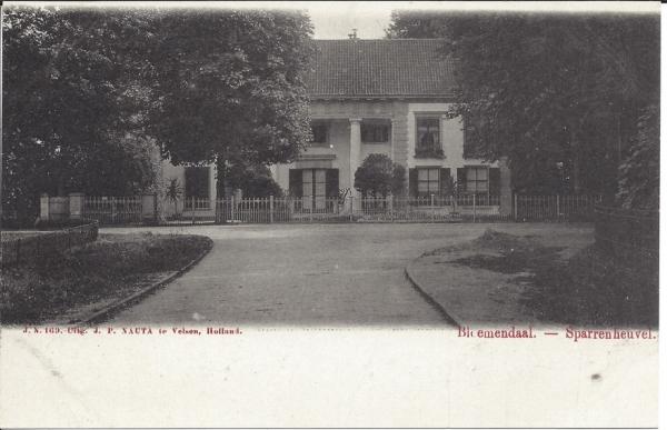 Mollaan, Sparrenheuvel, 1902