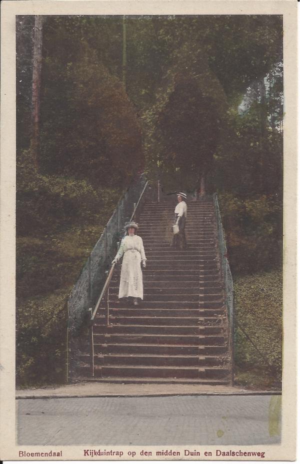 Midden Duin en Daalscheweg, Kijkduin-trap, 1915