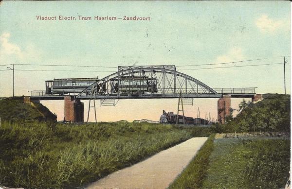 Leidschevaart, Spoorbrug Tram, 1908