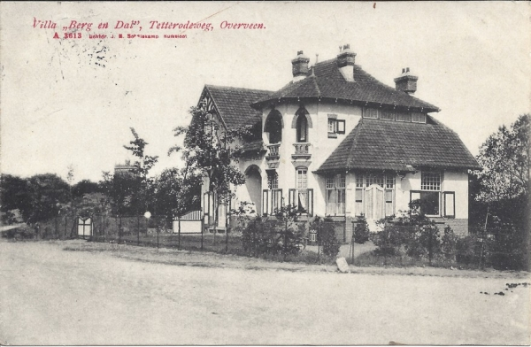 Tetterodeweg, Villa Berg en Dal, 1908