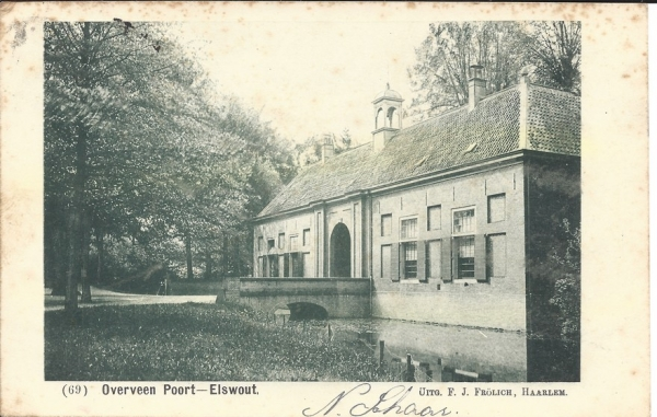 Elswoutslaan, Entrée Landgoed, 1900