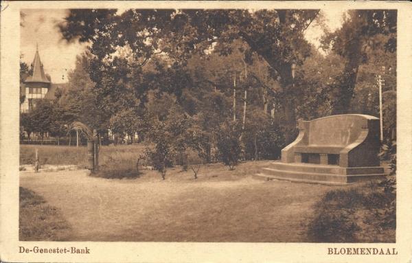 Lage Duin en Daalscheweg, Genestetbank, 1918