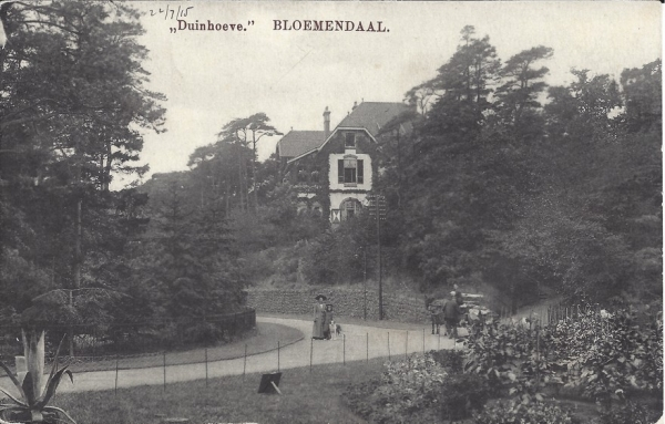 Parkweg, Villa Duinhoeve, 1915