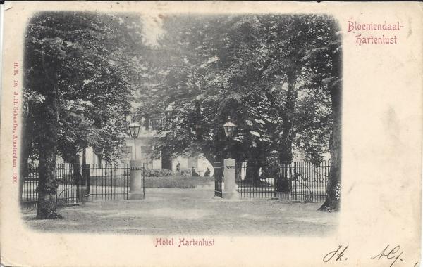 Vijverweg, Hotel Hartenlust 1901 (2)