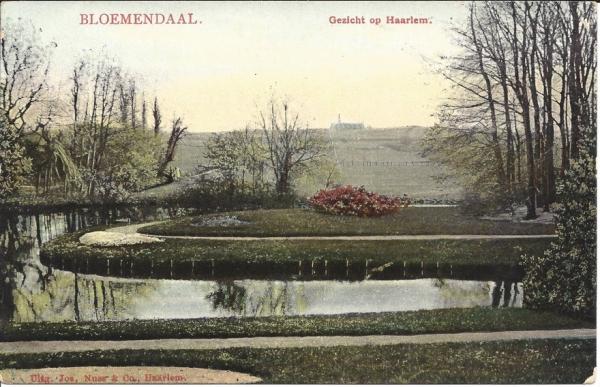 Bloemendaalscheweg, Bloemenheuvel, Uitzicht, 1907