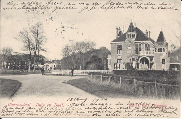 Lage Duin en Daalscheweg, Villa Elshof, 1904 (2)
