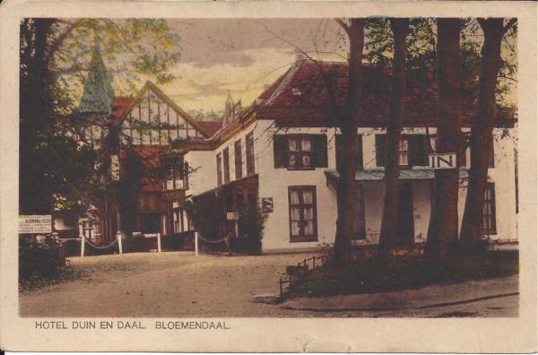 Koninginneduinweg, Hotel Duin en Daal, 1923